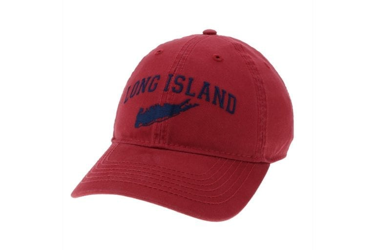 red cap with Long Island text