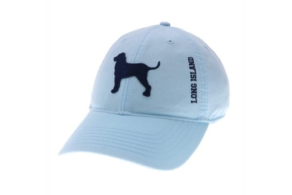 Light blue hat with dog silhouette