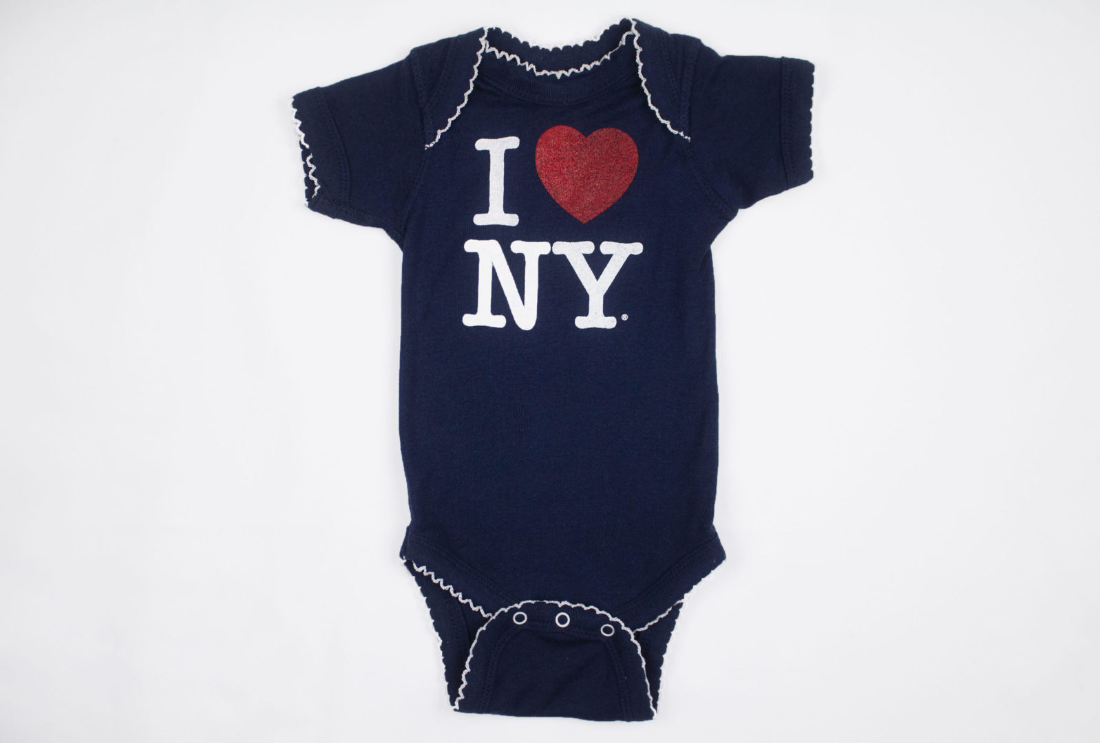 Blue onesie with text