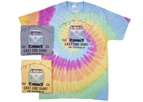Set of tie dyed shirts