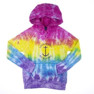 Rainbow colored hoodie