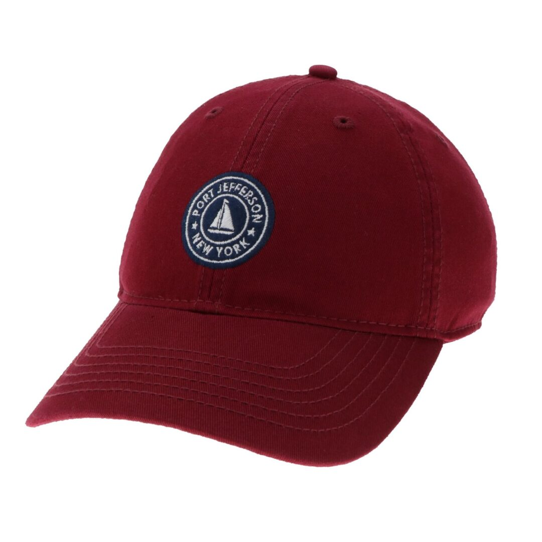 Maroon hat with Port Jefferson text