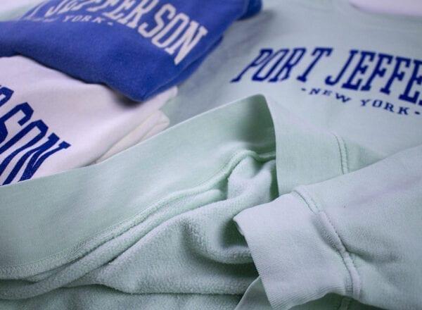 close up of a set of hoodies