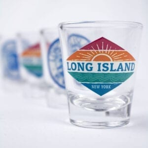 shot glasses in a row