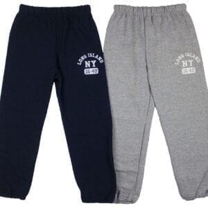 black and blue sweat pants