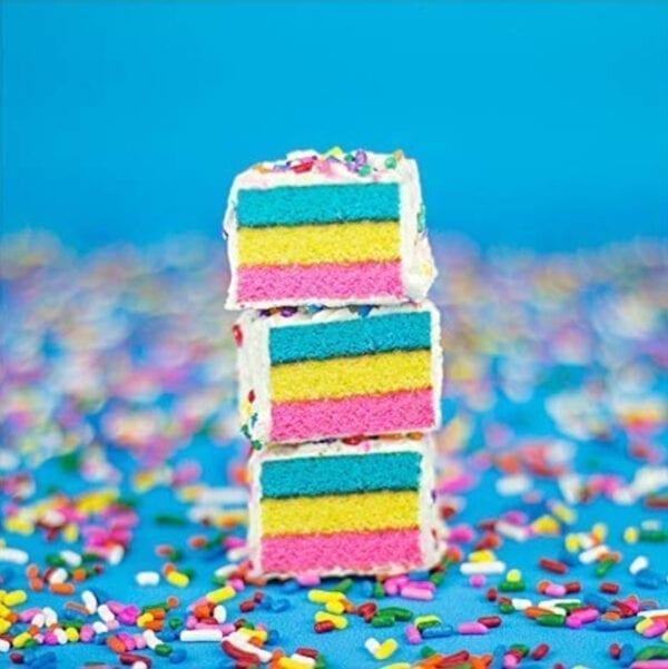 cakebites on confetti sprinkles