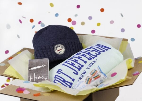box with apparel