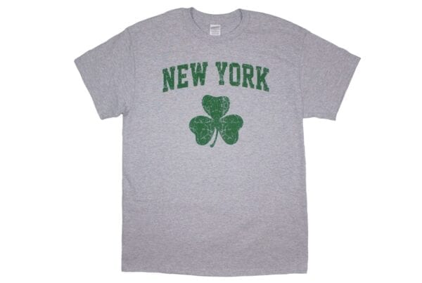 Gray shirt with New York Text