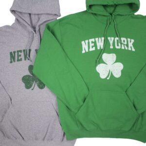 green and gray sweatshirts